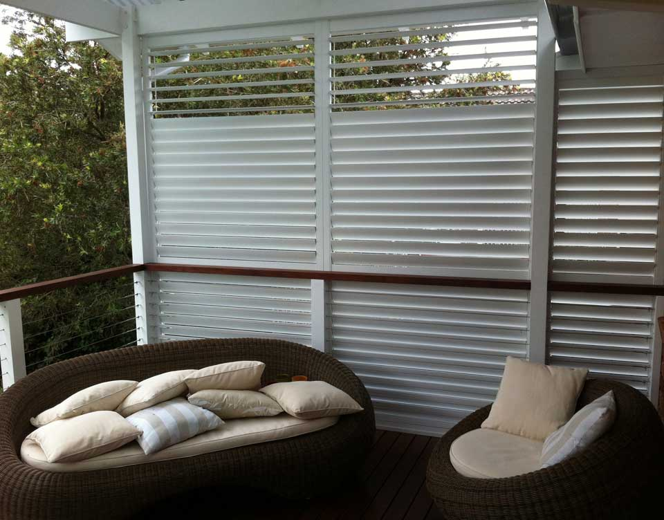 Outdoor Aluminum Plantation Shutters Sydney