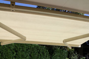 Image of outdoor blinds and awnings by Inwood Blinds and Shutters