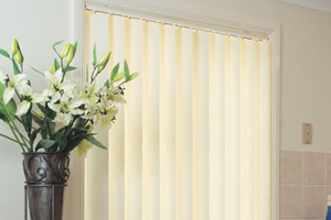 Image of interior vertical blinds by Inwood Blinds and Shutters