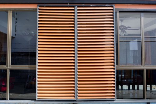 Image of outdoor patio blinds by Inwood Blinds and Shutters