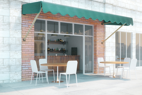 Image of shop awnings in Sydney by Inwood Blinds and Shutters
